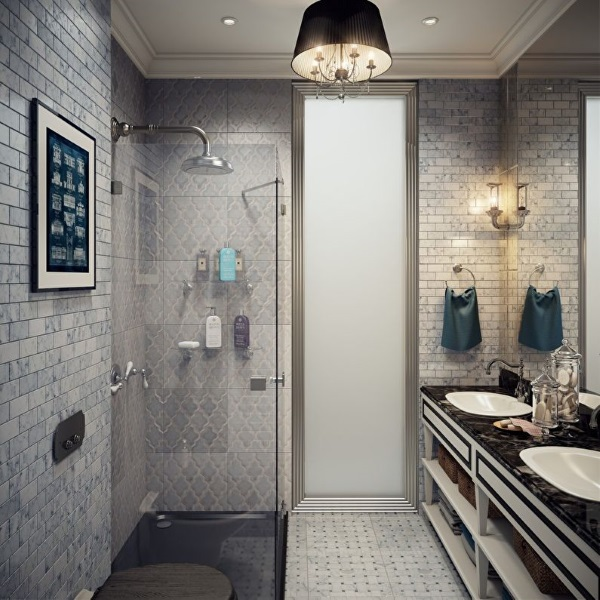 7-baie moderna mica de apartament amenajata cu dus idei 2019