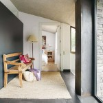 7-bancuta rustica din lemn si covor din iuta deco hol casa moderna Barcelona