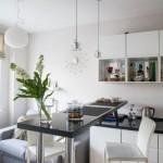 7-bar loc de luat masa bucatarie moderna open space apartament 2 camere 35 mp