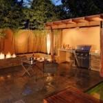 7-bucatarie de vara iluminat artificial nocturn curte casa