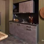 7-bucatarie mica cu mobilier interior casa mica DroomParken Village