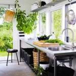 7-bucatarie minimalista decorata cu plante verzi