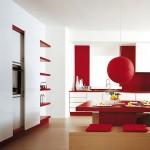 7-bucatarie moderna in alb si rosu