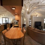 7-bucatarie open space casa in forma de ciuperca