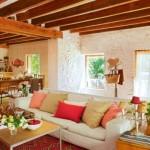 7-bucatarie si living open space stil rustic casa din piatra spania
