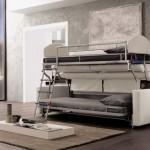 7-canapea Loop by Pozzi Divani transformata in doua paturi supraetajate