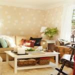 7-canapea masuta de cafea si fotoliu balansoar living rustic scandinav ikea