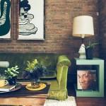 7-caramida bruta perete decor vintage living