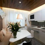 7-combinatie de alb cu lemn culoare nuc amenajare bucatarie moderna