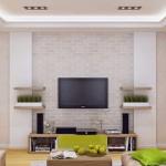 7-comoda tv living maro si verde fistic design modern