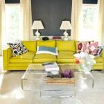 7-contrast dinamic living amenajat in gri cu accente galbene