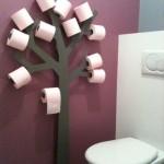 7-copacul cu hartie igienica suport amuzant pentru baie