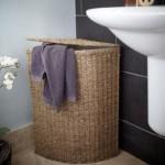 7-cos impletit din rachita pentru depozitarea rufelor in baie