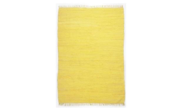 7-covor Theko fir impletit din bumbac culoare galben