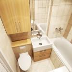 7-decor baie amenajata in crem si bej
