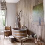 7-decor baie rustica finisata cu lemn