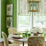 7-decor dining zugravit in verde cu accente cromatice galbene