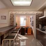 7-delimitarea bucatariei de living cu ajutorul unui bar