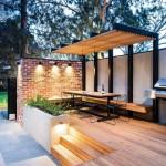 7-design minimalist pergoa structura metalica si acoperis din lemn