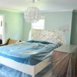 7-dormitor cu pereti verde mentolat inainte de reamenajare si redecorare