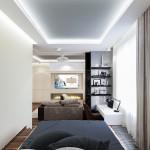 7-dormitor deschis spre living amenajare apartament semidecomandat 2 camere