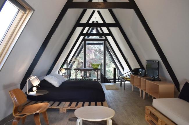 7-dormitor mansarda cu zona relaxare si spatiu lucru Casa R Felipe Lagos