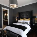 7-dormitor mic pereti zugraviti in gri inchis mobila neagra