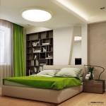 7-dormitor modern amenajat in alb maro si vernil