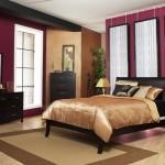 7-dormitor pereti mov si mobila neagra