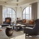 7-draperii gri decor living cu multe ferestre