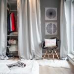 7-dressing dormitor minimalist decorat in alb gri si negru