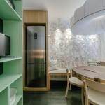 7-dulap in nuante de verde decora bucatarie moderna cu accente eco urbane