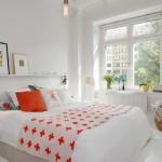 7-exemplu de amenajare a unui dormitor in stil scandinav alb cu accente portocalii