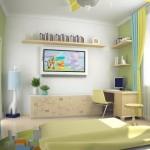 7-exemplu de amenajare camera baiat cu vernil in calitate de accent cromatic