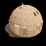 7-exterior schita casa din lemn in forma de dom Dobrosfera
