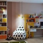 7-fotoliu para sau puf imprimeu minge de fotbal camera adolescent