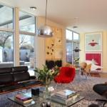 7-fotoliu si tablouri cu rosu accent cromatic living modern