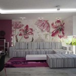 7-fototapet cu flori mari supradimensionate decor living modern