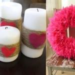 7-ghirlanda roz si lumanari decorate pentru ziua indragostitilor