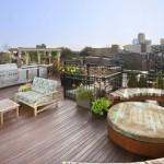 7-gratar si multiple arii de relaxare amenajate pe terasa de pe acoperisul unui bloc