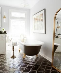 7-gresie model solzi culoarea cimentului amenajare baie clasica