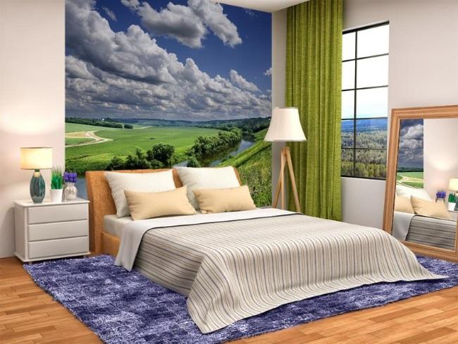 7-imagine panoramica a unui peisaj din natura fototapet marire vizuala a dormitorului