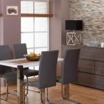 7-imitatie piatra naturala decor perete dining modern