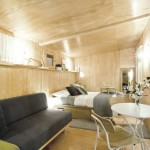 7-interior finisat in lemn casa mica prefabricata