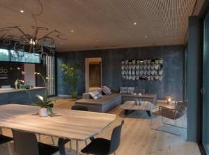 7-interior living si dining casa modulara pasiva Pop-Up House