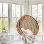 7-leagan din lemn impletit agatat de tavan element decorativ aducator de caldura