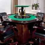7-lift circular pentru bauturi integrat in blatul unei mese de joc model la comanda