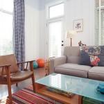 7-living amenajat in stil retro casa mica cu 3 dormitoare