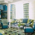 7-living amenajat in verde si culori analog acestuia