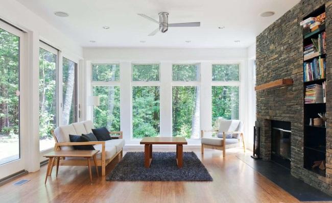 7-living cu semineu casa modulara prefabricata design modern